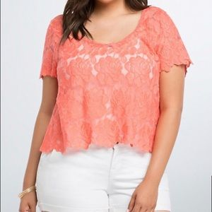 Torrid lace crop top, in like new condition